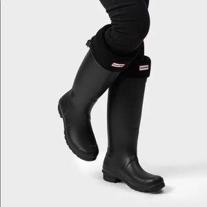 Hunter Original Tall Rain Boots: Black 5